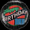 "18"" Birthday Dad Stripes overview"