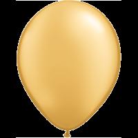 "11"" Custom Printed Luxury Pearl Gold Latex Balloons"