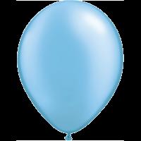 "11"" Custom Printed Luxury Pearl Azure Latex Balloons"