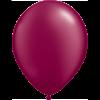 "11"" Custom Printed Luxury Pearl Burgundy Latex Balloons overview"
