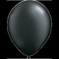 "11"" Custom Printed Luxury Pearl Black Latex Balloons"
