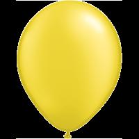 "11"" Custom Printed Luxury Pearl Citrine Yellow Latex Balloons"