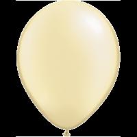 "11"" Custom Printed Luxury Pearl Ivory Latex Balloons"