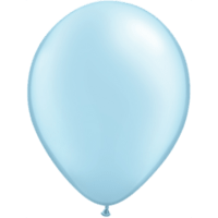 "11"" Custom Printed Luxury Pearl Light Blue Latex Balloons"