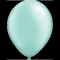 "11"" Custom Printed Luxury Pearl Mint Green Latex Balloons"