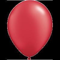 "11"" Custom Printed Luxury Pearl Ruby Red Latex Balloons"
