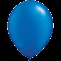 "11"" Custom Printed Luxury Pearl Sapphire Blue Latex Balloons"