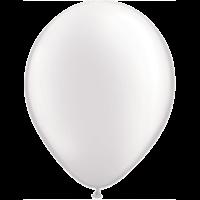 "11"" Custom Printed Luxury Pearl White Latex Balloons"