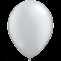 "11"" Custom Printed Luxury Pearl Silver Latex Balloons"