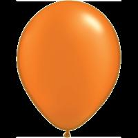 "11"" Custom Printed Luxury Pearl Mandarin Orange Latex Balloons"