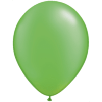 "11"" Custom Printed Luxury Pearl Lime Green Latex Balloons"