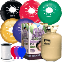 25 Printed Foil Balloon Pack