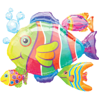 Tropical Fish Shoal Balloon in a Box