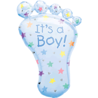 Baby Boy Foot Balloon in a Box