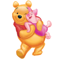 Big Hugs from Pooh Balloon in a Box