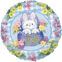 Basket with Easter Bunny Balloon in a Box