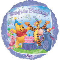 Winnie the Pooh 1st Birthday Balloon in a Box