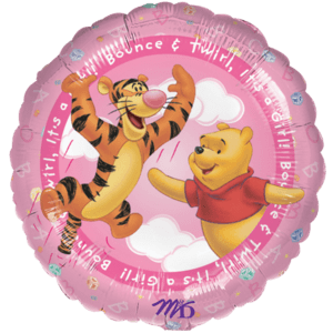 Pink Pooh Baby Girl Balloon in a Box