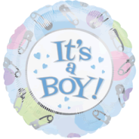 It's A Boy Pins & Things Balloon in a Box
