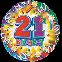 Twenty First Birthday Razz Balloon in a Box