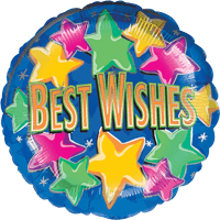 Stars Best Wishes Balloon in a Box