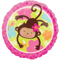 Cheeky Monkey Floral Balloon in a Box