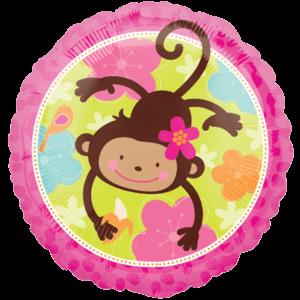 Swinging Flower Monkey Balloon in a Box