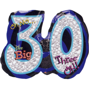 The Big Three O Balloon in a Box