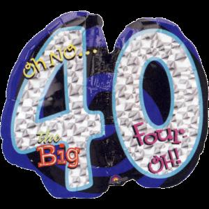The Big Four O Balloon in a Box