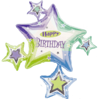 Birthday Star Surround Balloon in a Box