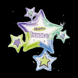 Birthday Star Surround Balloon in a Box