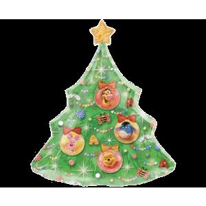 Winnie The Pooh Xmas Tree Balloon in a Box