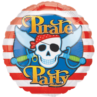 Pirates Skull Party Balloon in a Box