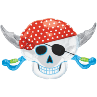 Pirate Skull Grin Balloon in a Box