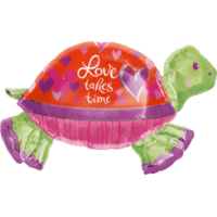 Love Takes Time Turtle Balloon in a Box