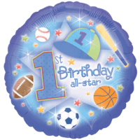 Star First Birthday Balloon in a Box