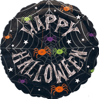 Happy Halloween Spiders Balloon in a Box