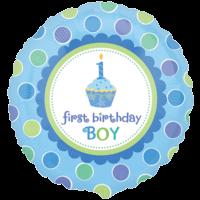 Boy 1st Birthday Sweet Cupcake Balloon in a Box