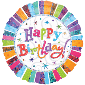 Happy Glitter Birthday Balloon in a Box