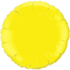 "18"" Custom Printed Yellow Round Foil Balloons overview"