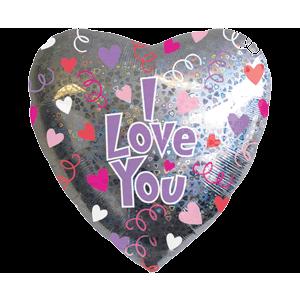Silver I Love You Heart Balloon in a Box