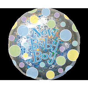 Baby Boy Sparkle Dots