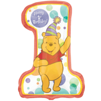 Winne The Pooh First Birthday Balloon in a Box