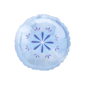 Clear Snowflake Pattern Balloon in a Box