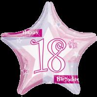 18th Birthday Sparkle Star Balloon in a Box