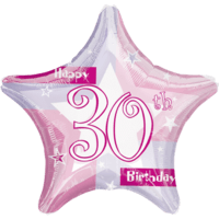30th Birthday Sparkle Star Balloon in a Box