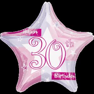 30th Birthday Sparkle Star Balloon in a Box