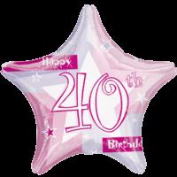 40th Birthday Sparkle Star Balloon in a Box