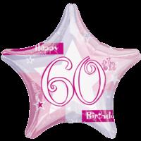 60th Birthday Sparkle Star Balloon in a Box