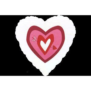 Clear Heart With Arrow Balloon in a Box